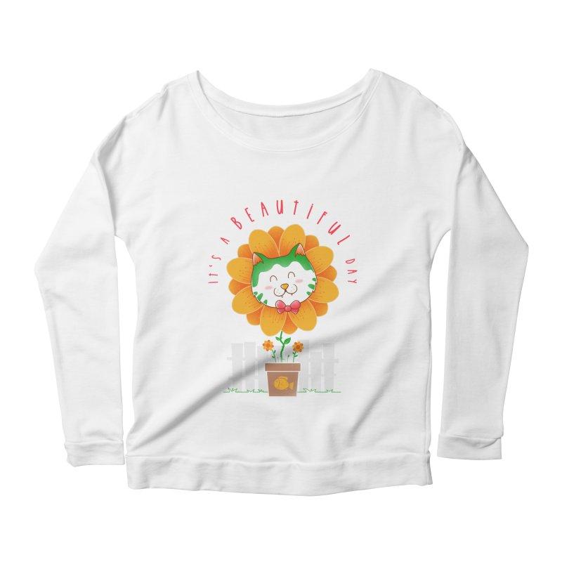 It's A Beautiful Day Women's Scoop Neck Longsleeve T-Shirt by godzillarge's Artist Shop