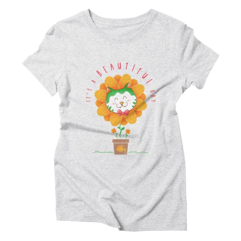 It's A Beautiful Day Women's Triblend T-Shirt by godzillarge's Artist Shop
