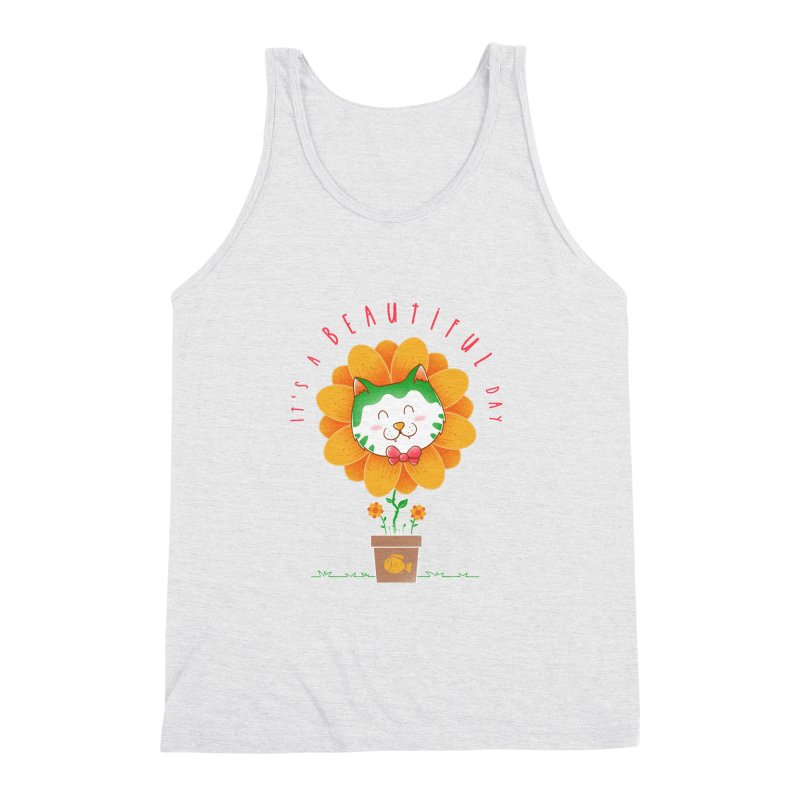 It's A Beautiful Day Men's Triblend Tank by godzillarge's Artist Shop