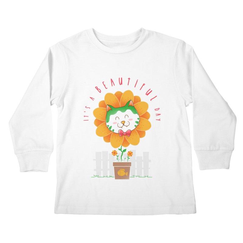 It's A Beautiful Day Kids Longsleeve T-Shirt by godzillarge's Artist Shop
