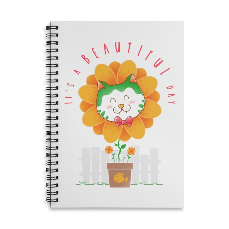 It's A Beautiful Day Accessories Lined Spiral Notebook by godzillarge's Artist Shop