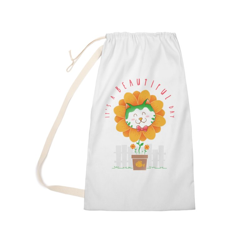 It's A Beautiful Day Accessories Laundry Bag Bag by godzillarge's Artist Shop