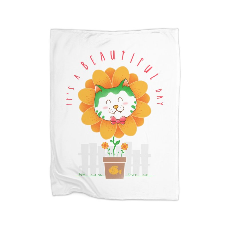 It's A Beautiful Day Home Fleece Blanket Blanket by godzillarge's Artist Shop