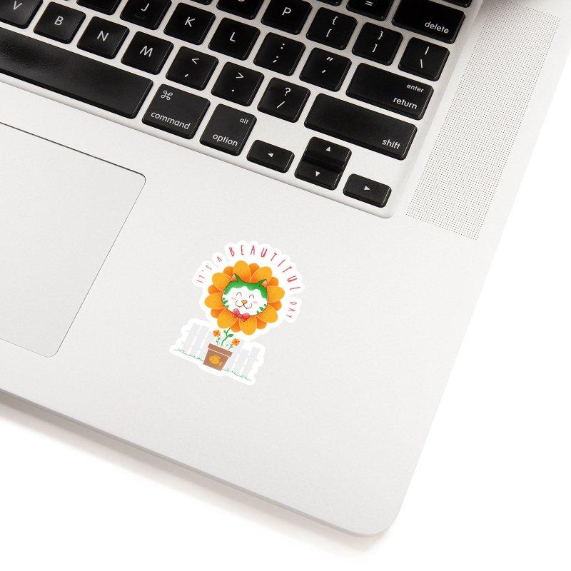 It's A Beautiful Day Accessories Sticker by godzillarge's Artist Shop