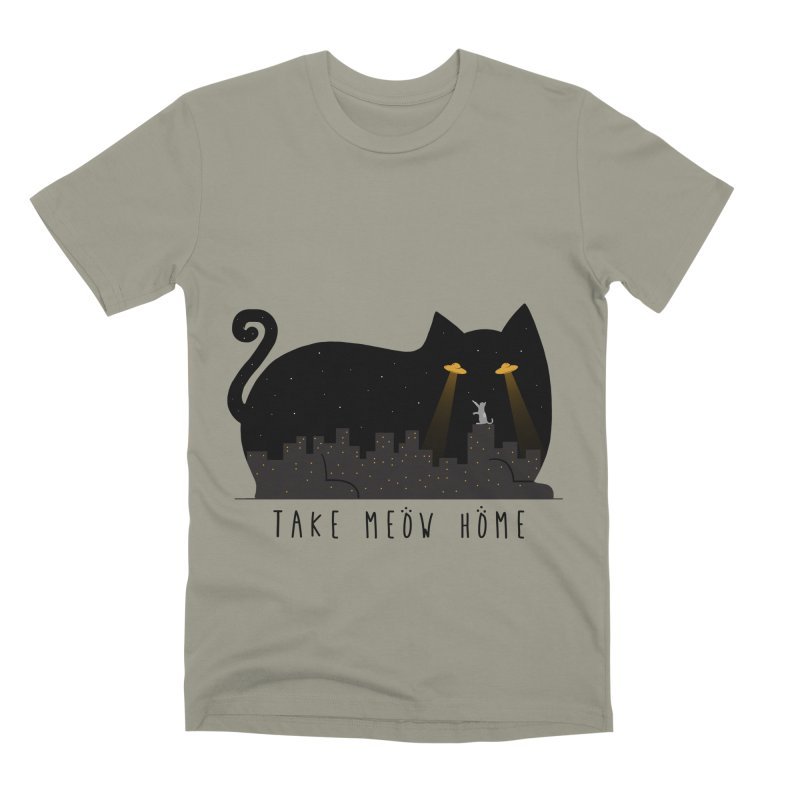 Take Meow Home Men's Premium T-Shirt by godzillarge's Artist Shop