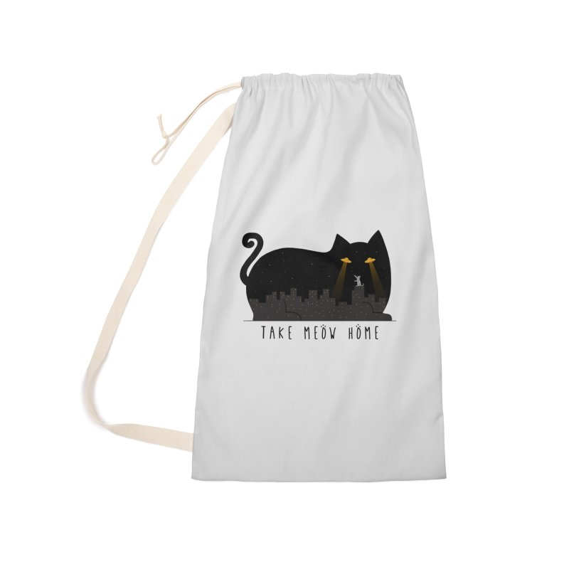 Take Meow Home Accessories Laundry Bag Bag by godzillarge's Artist Shop
