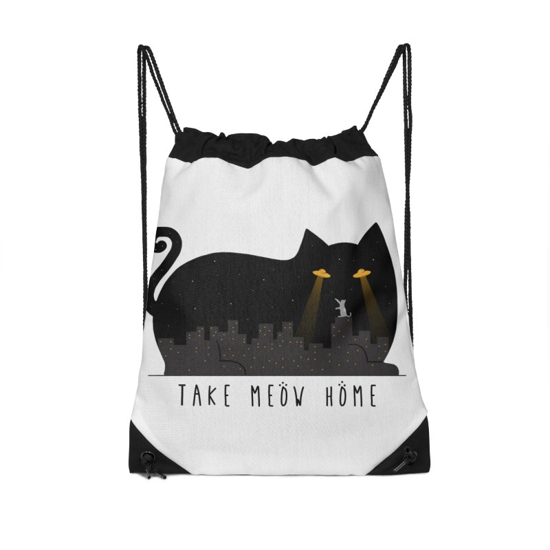 Take Meow Home Accessories Bag by godzillarge's Artist Shop