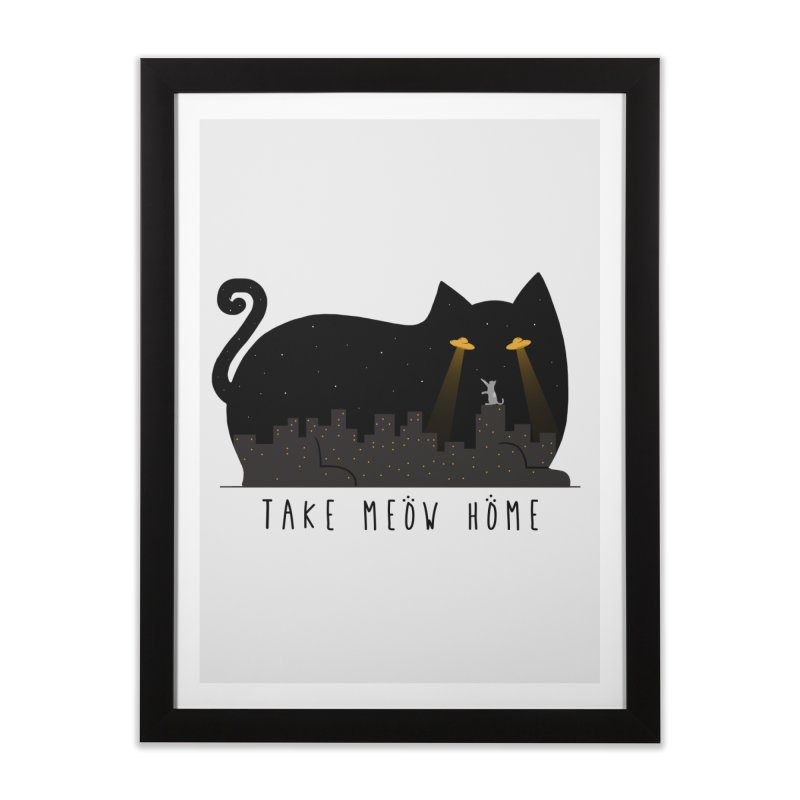 Take Meow Home Home Framed Fine Art Print by godzillarge's Artist Shop