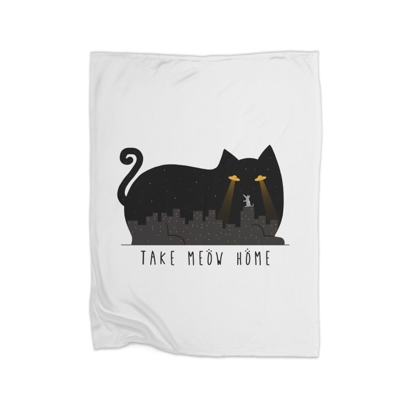Take Meow Home Home Fleece Blanket Blanket by godzillarge's Artist Shop