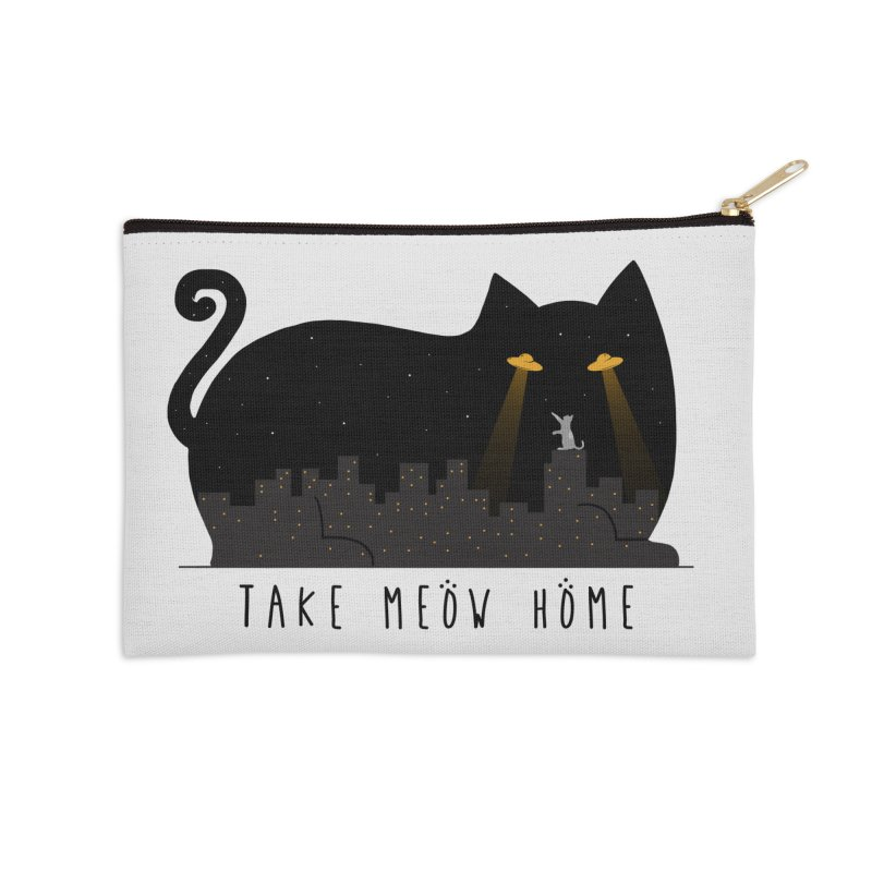 Take Meow Home Accessories Zip Pouch by godzillarge's Artist Shop