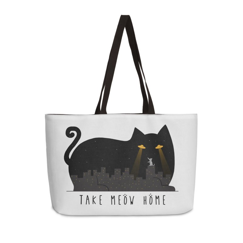 Take Meow Home Accessories Weekender Bag Bag by godzillarge's Artist Shop