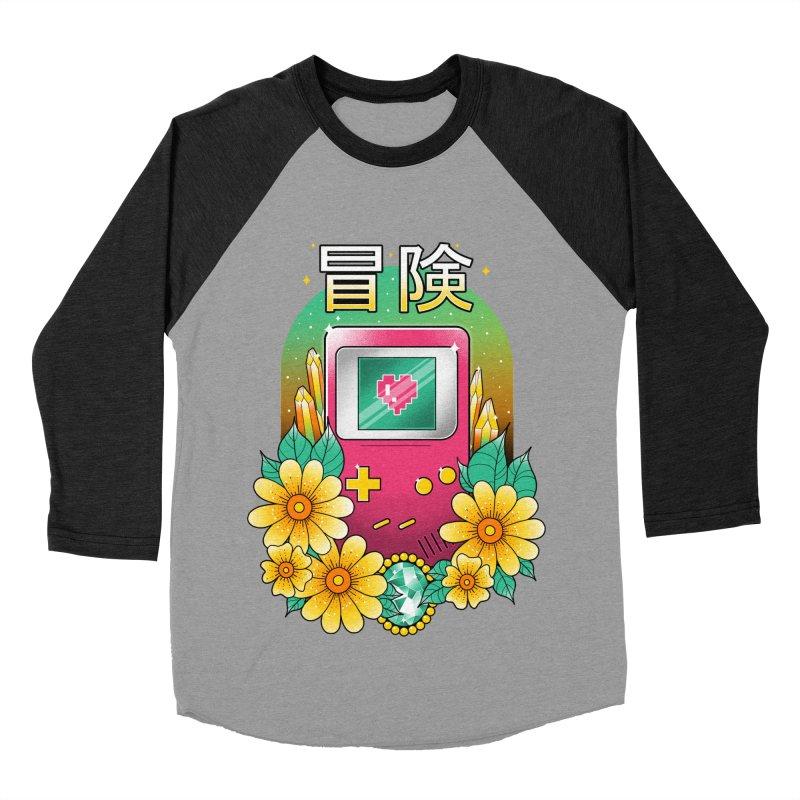 Digital Adventure Men's Baseball Triblend Longsleeve T-Shirt by godzillarge's Artist Shop