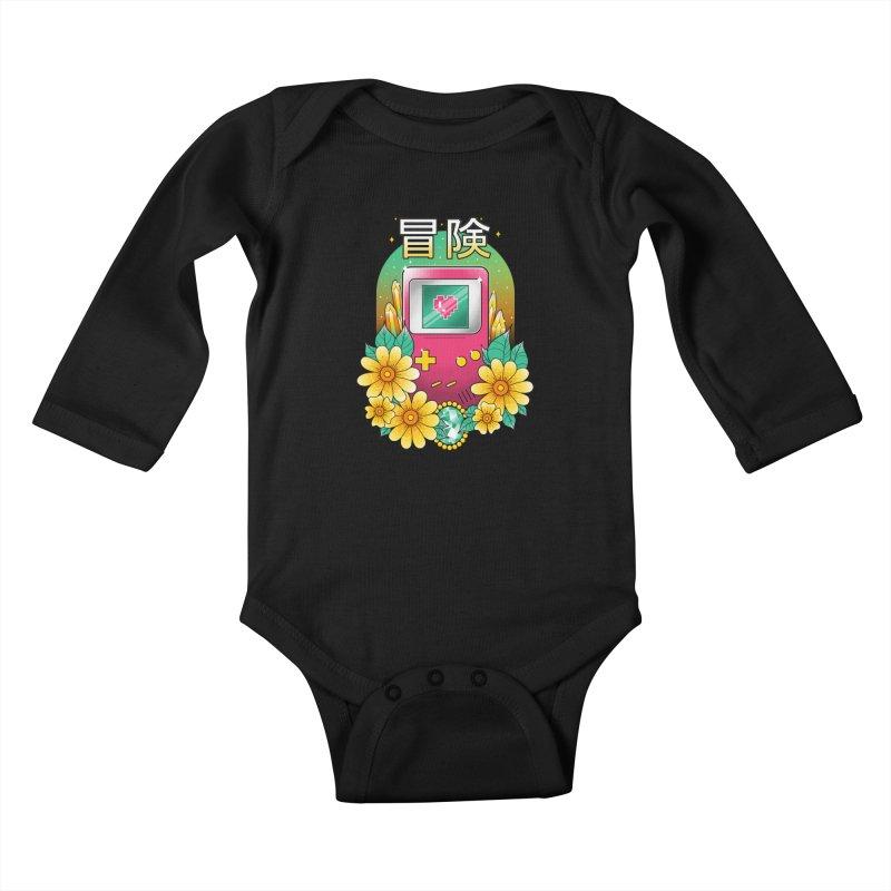 Digital Adventure Kids Baby Longsleeve Bodysuit by godzillarge's Artist Shop