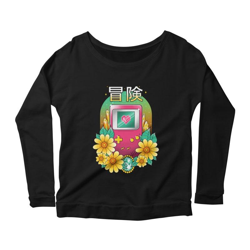 Digital Adventure Women's Scoop Neck Longsleeve T-Shirt by godzillarge's Artist Shop
