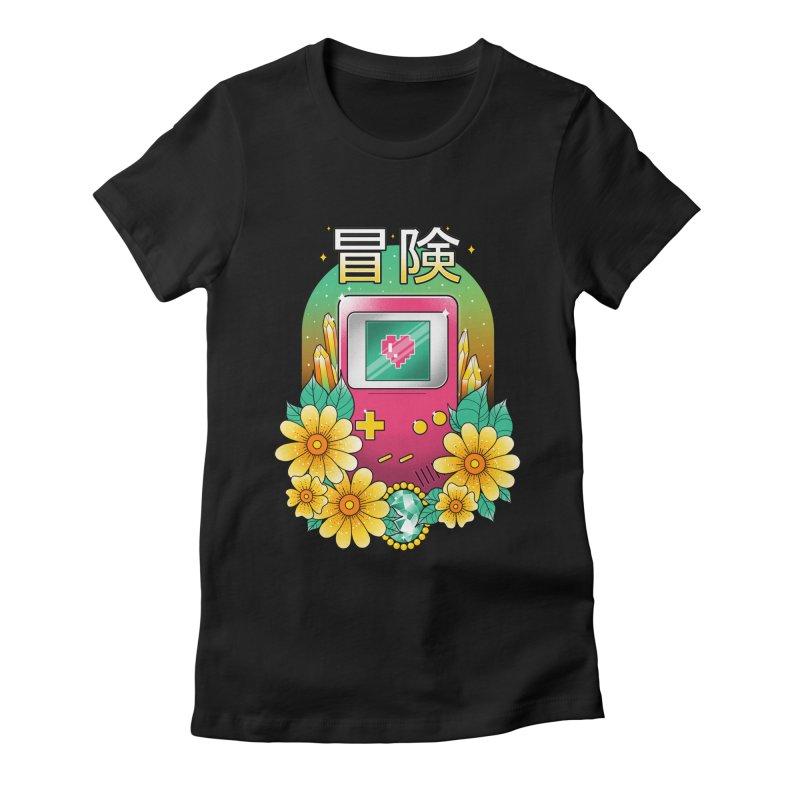 Digital Adventure Women's Fitted T-Shirt by godzillarge's Artist Shop