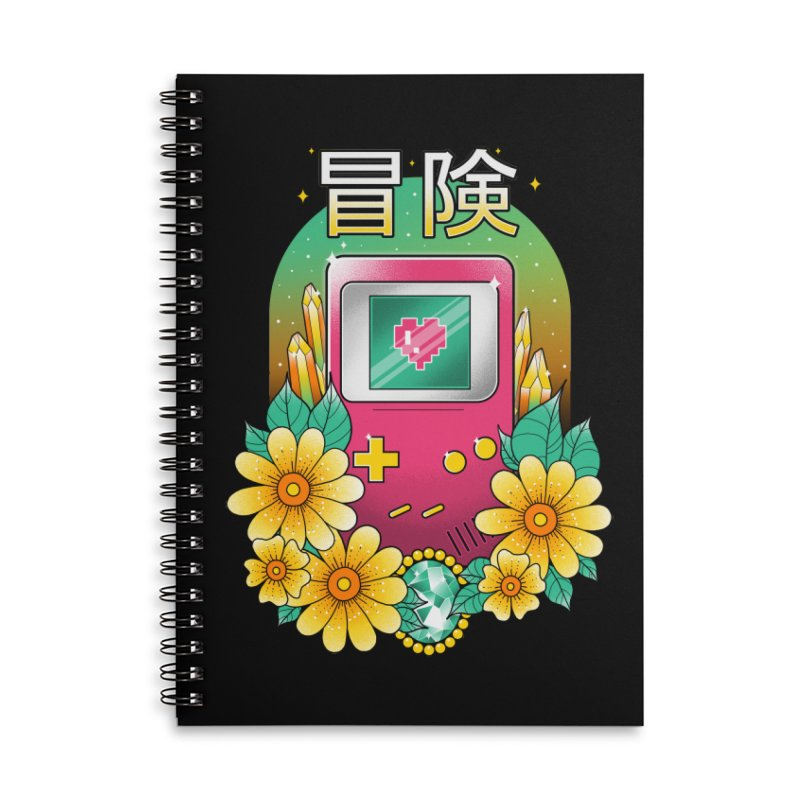 Digital Adventure Accessories Lined Spiral Notebook by godzillarge's Artist Shop