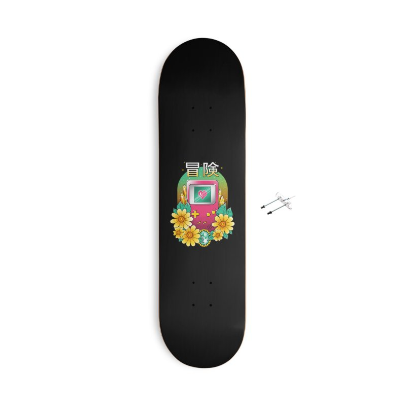 Digital Adventure Accessories With Hanging Hardware Skateboard by godzillarge's Artist Shop