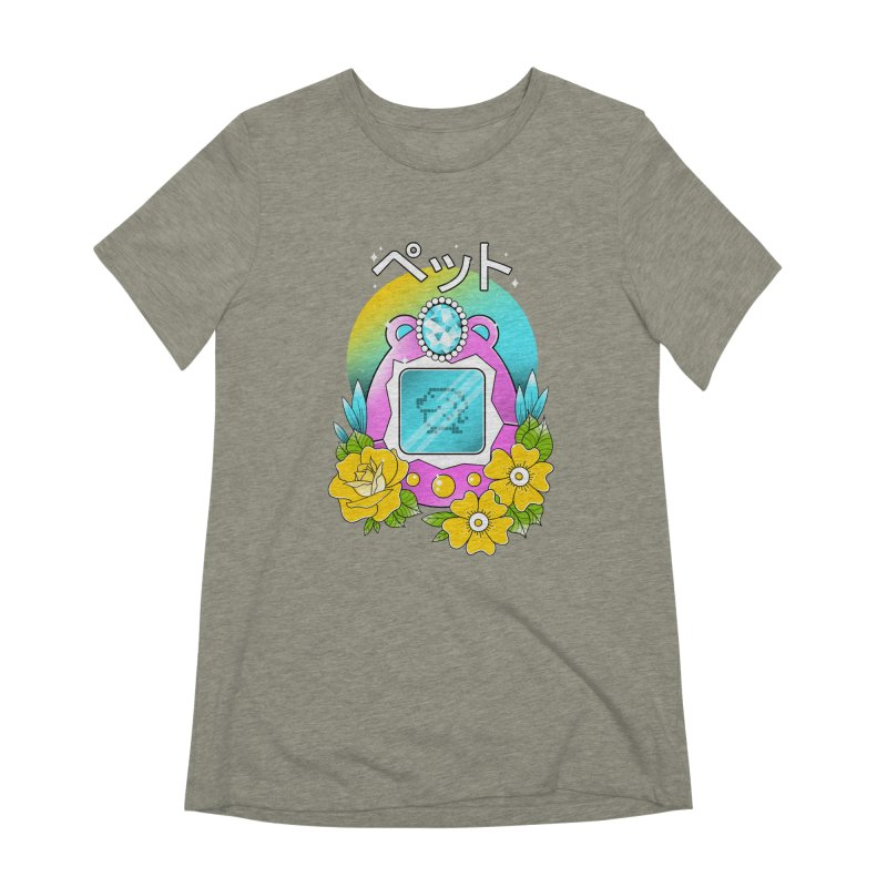 Digital Pet Women's Extra Soft T-Shirt by godzillarge's Artist Shop