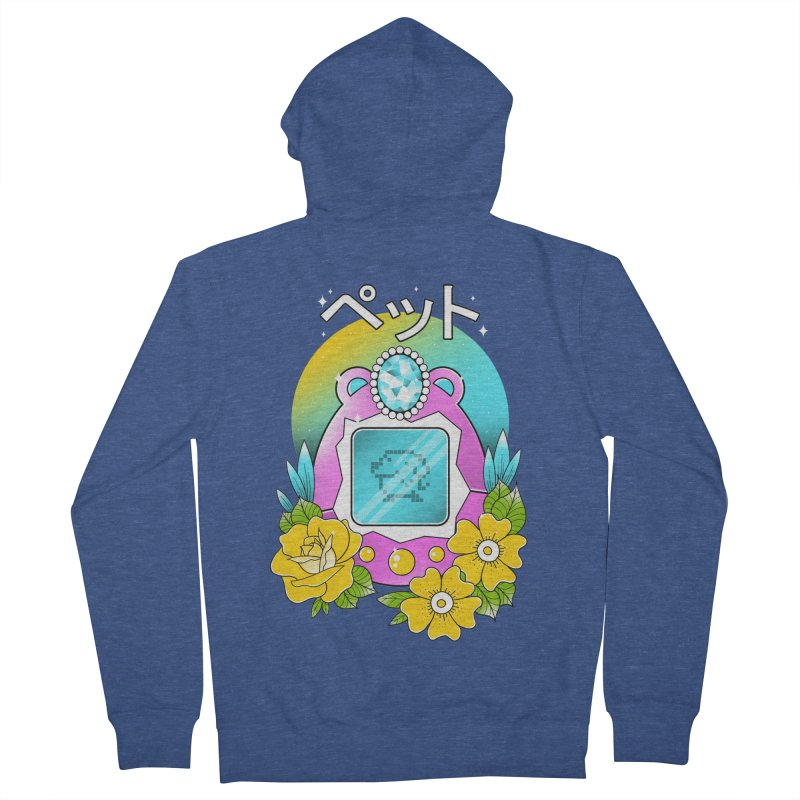 Digital Pet Women's French Terry Zip-Up Hoody by godzillarge's Artist Shop