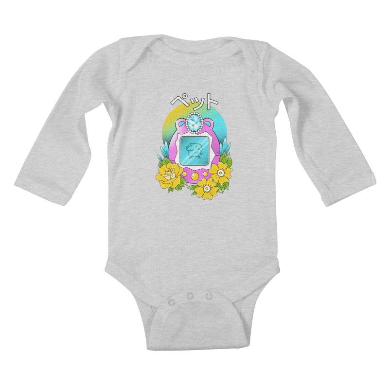Digital Pet Kids Baby Longsleeve Bodysuit by godzillarge's Artist Shop