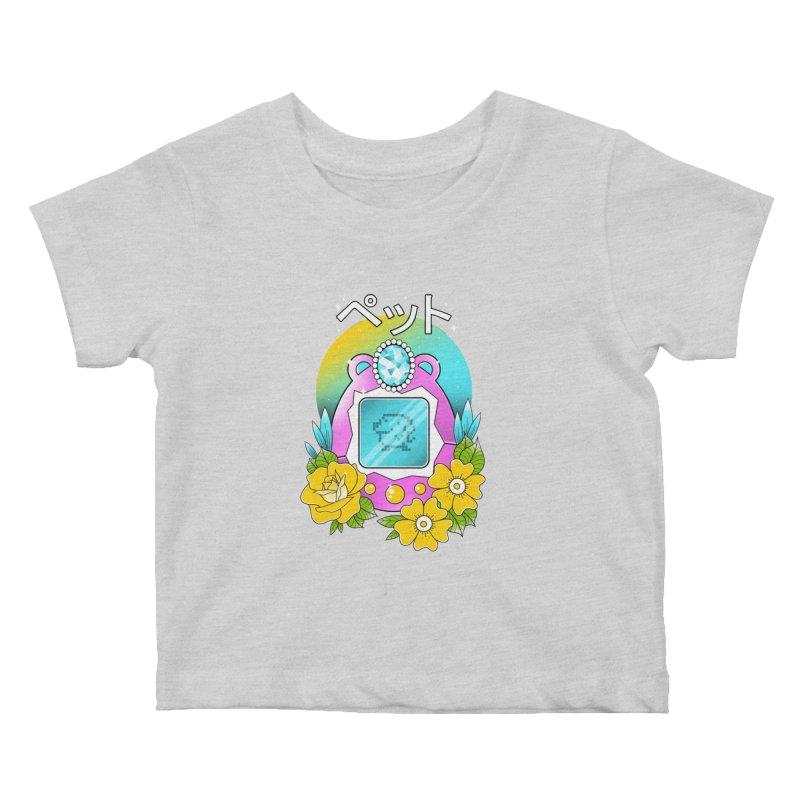 Digital Pet Kids Baby T-Shirt by godzillarge's Artist Shop