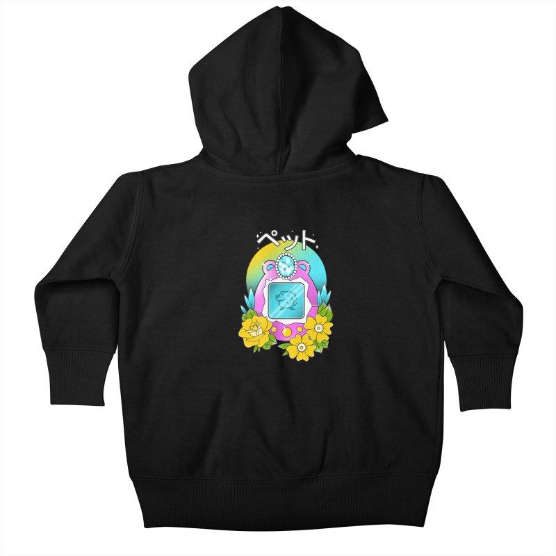 Digital Pet Kids Baby Zip-Up Hoody by godzillarge's Artist Shop