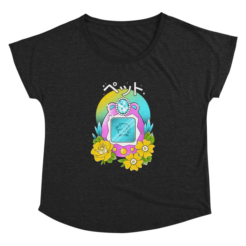 Digital Pet Women's Dolman Scoop Neck by godzillarge's Artist Shop