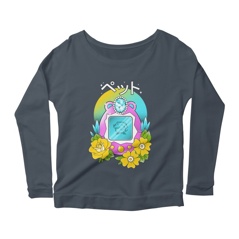 Digital Pet Women's Scoop Neck Longsleeve T-Shirt by godzillarge's Artist Shop