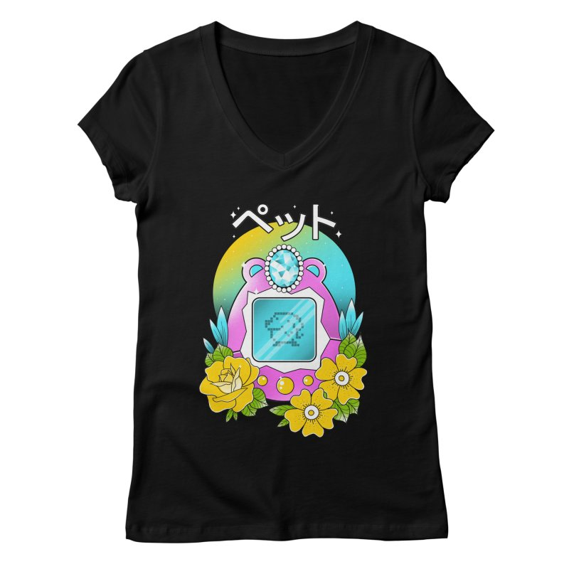 Digital Pet Women's Regular V-Neck by godzillarge's Artist Shop
