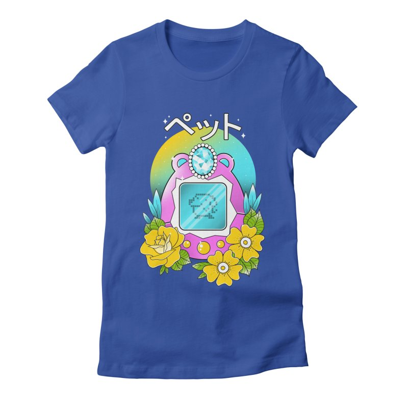 Digital Pet Women's Fitted T-Shirt by godzillarge's Artist Shop