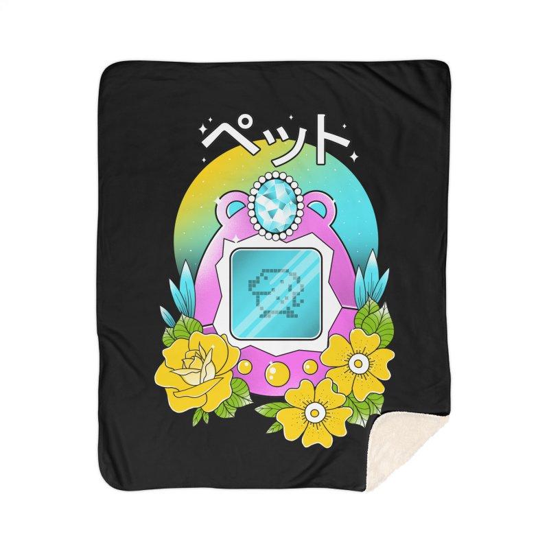 Digital Pet Home Sherpa Blanket Blanket by godzillarge's Artist Shop