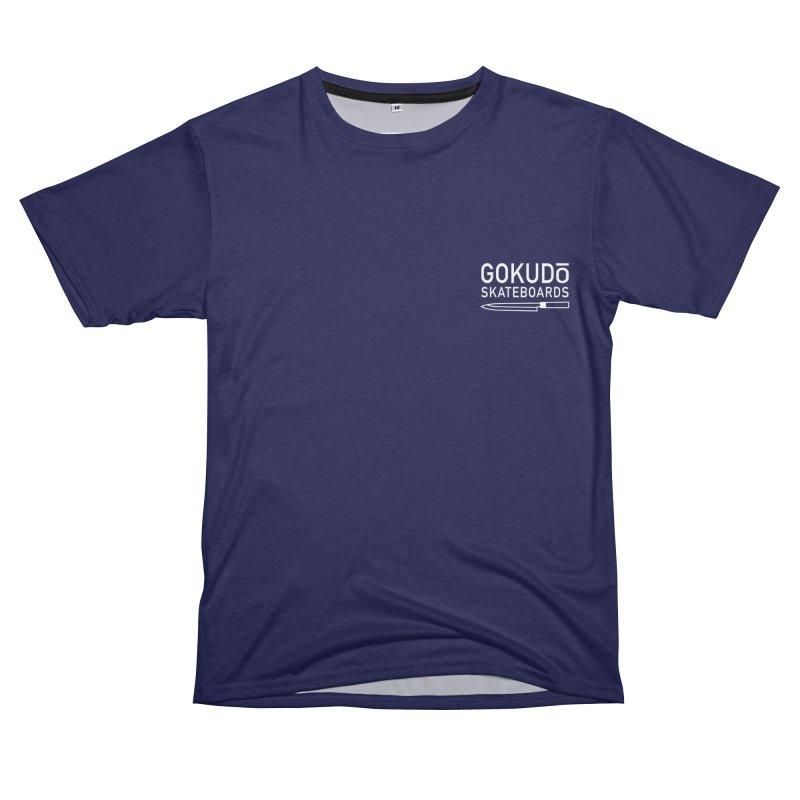 Gokudō Skateboards Classic Indigo Women's Unisex French Terry T-Shirt Cut & Sew by Gokuten