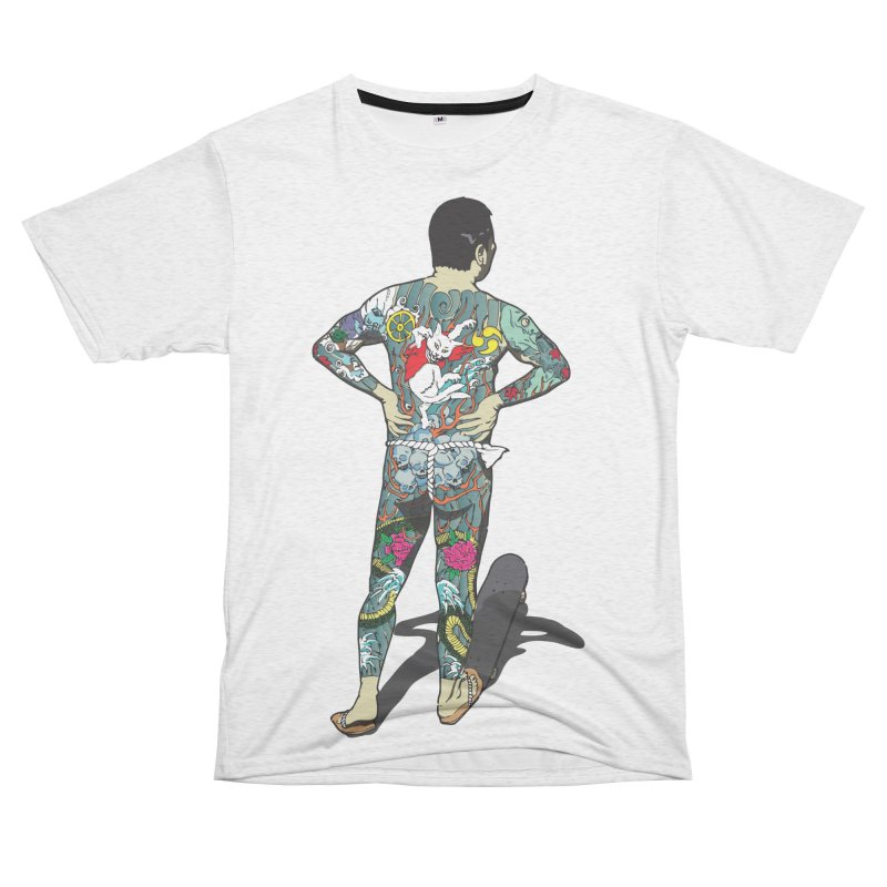 Brother Kawanabe - Enforcer Women's Unisex French Terry T-Shirt Cut & Sew by Gokuten