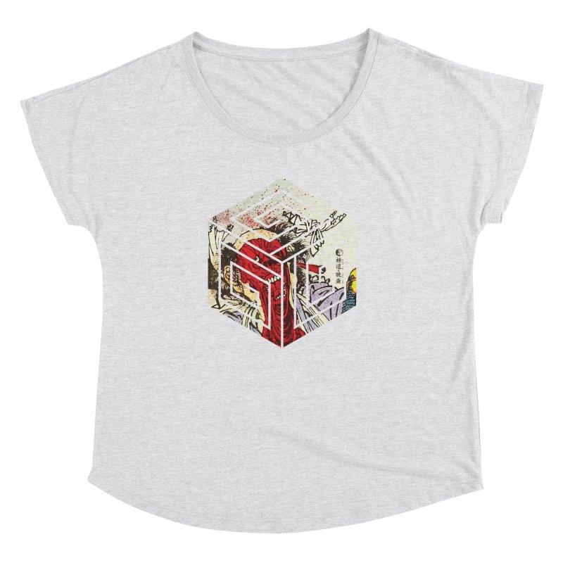 Face-Off T-Shirt Women's Dolman Scoop Neck by Gokuten