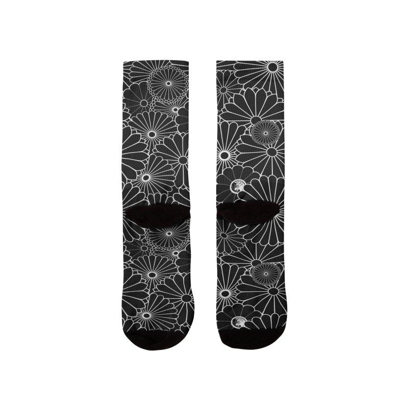 Gokudo Flowers Shoes Makkuro Men's Socks by Gokuten
