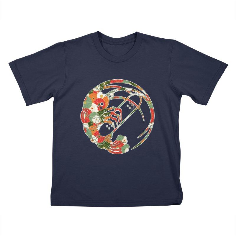 Gokudo Flowers T-Shirt Kids T-Shirt by Gokuten