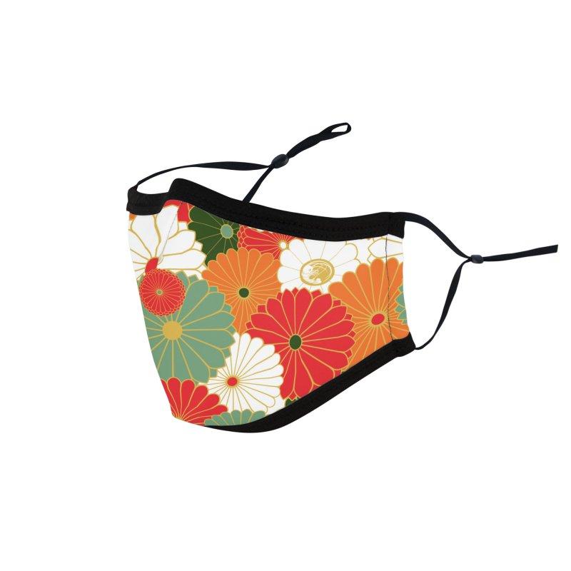 Gokudo Flowers Mask Smallprint Accessories Face Mask by Gokuten
