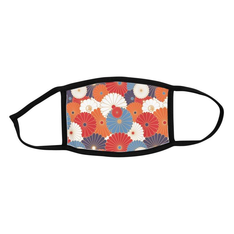 Gokudo Flowers Mask Aoi Smallprint Accessories Face Mask by Gokuten