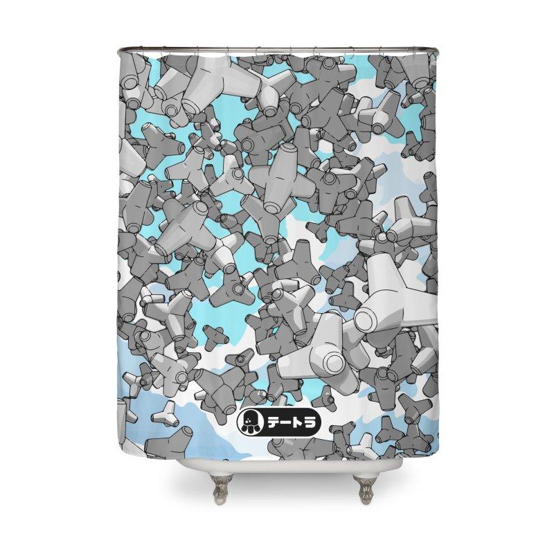 The Drop (Te-Tora 01) Home Shower Curtain by Gokuten