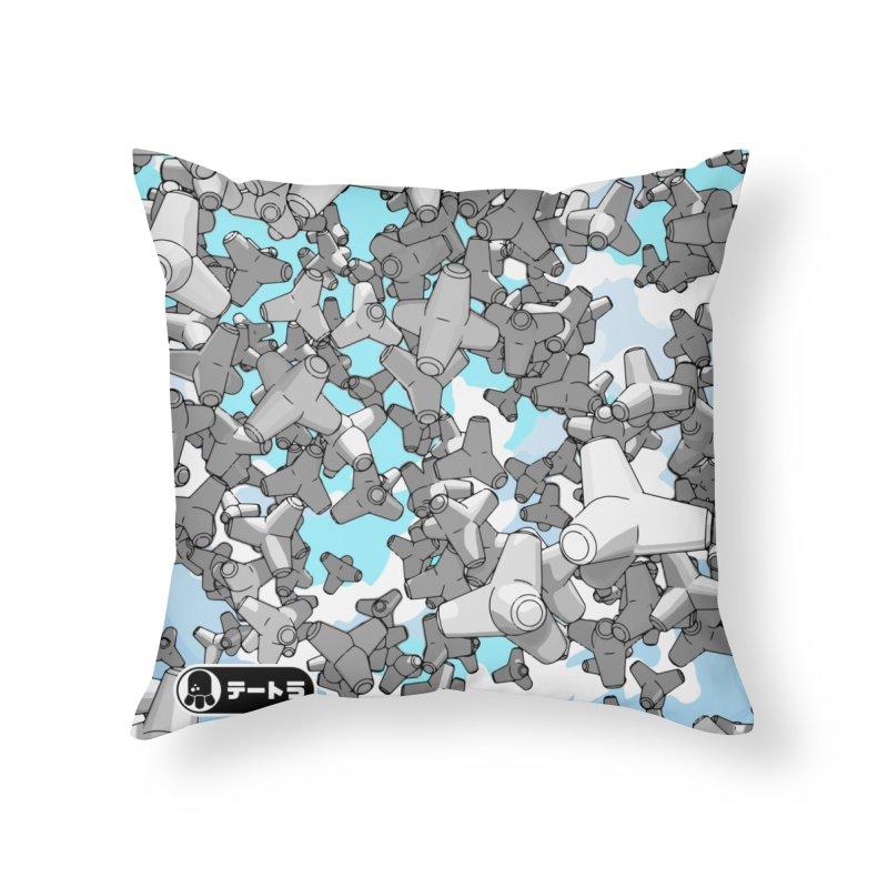 The Drop (Te-Tora 01) Home Throw Pillow by Gokuten