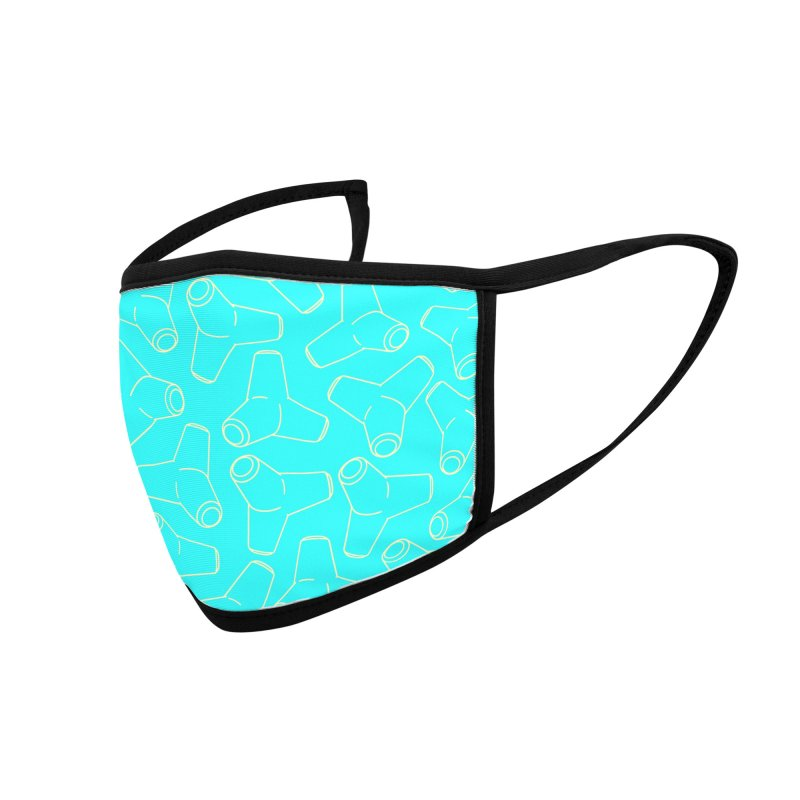 Te-Tora Pattern Turquoise Accessories Face Mask by Gokuten