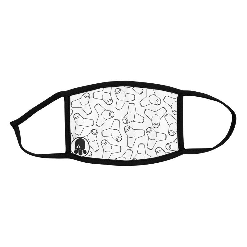 Te-Tora Pattern White Accessories Face Mask by Gokuten