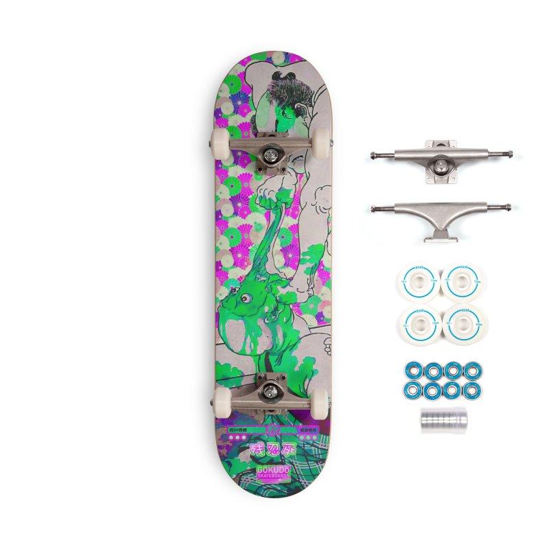 Gokudo Brutal Kill Deck - Martian Green Accessories Skateboard by Gokuten