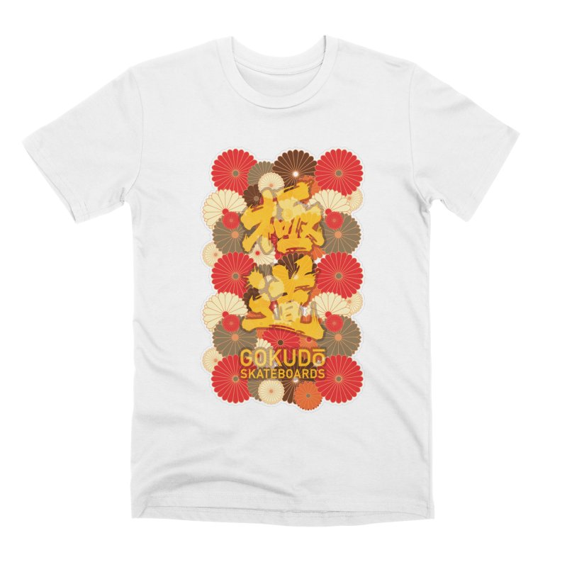Gokudo Skateboards Fall Flowers Men's T-Shirt by Gokuten