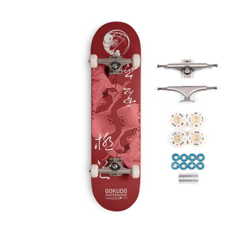 Gokudō Special Edition Deck [Komusō] Crimson Version Accessories Complete - Premium Skateboard by Gokuten