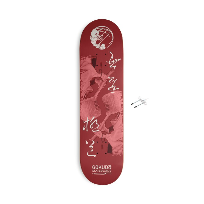 Gokudō Special Edition Deck [Komusō] Crimson Version Accessories With Hanging Hardware Skateboard by Gokuten