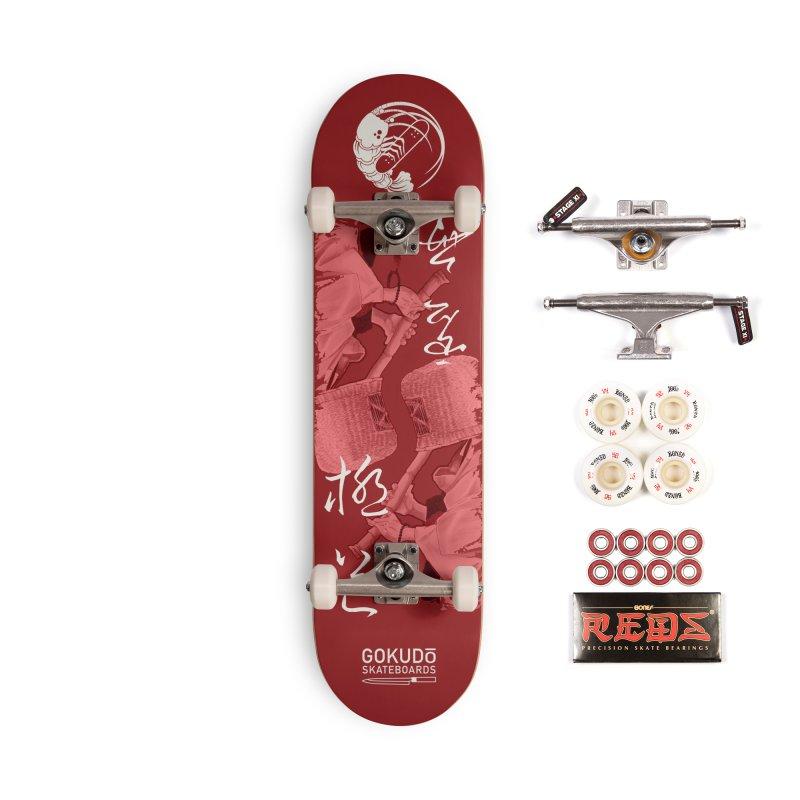 Gokudō Special Edition Deck [Komusō] Crimson Version Accessories Complete - Pro Skateboard by Gokuten