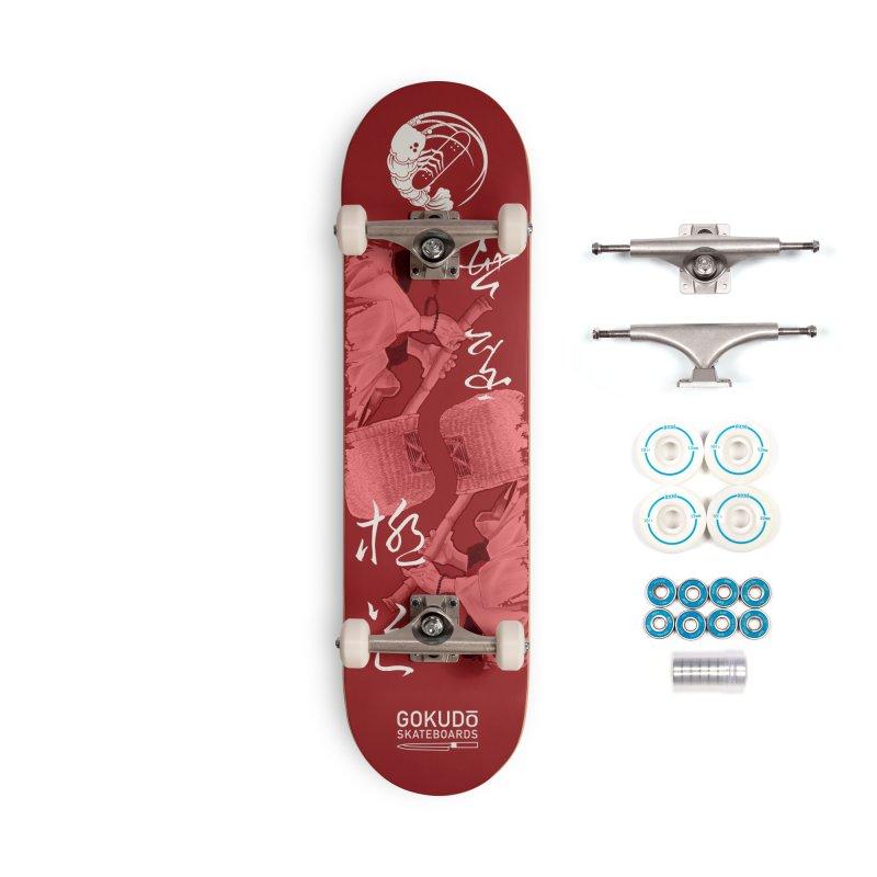 Gokudō Special Edition Deck [Komusō] Crimson Version Accessories Complete - Basic Skateboard by Gokuten