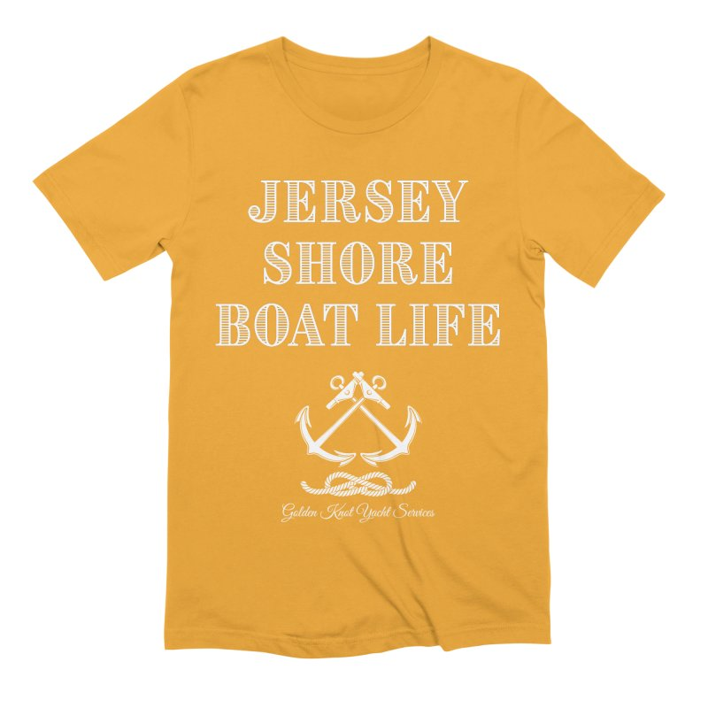 Jersey Shore Boat Life Men's T-Shirt by Golden Knot Yacht Services Swag