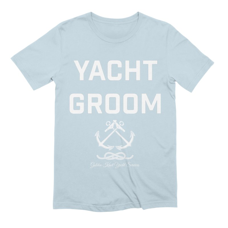 Yacht Groom Men's T-Shirt by Golden Knot Yacht Services Swag